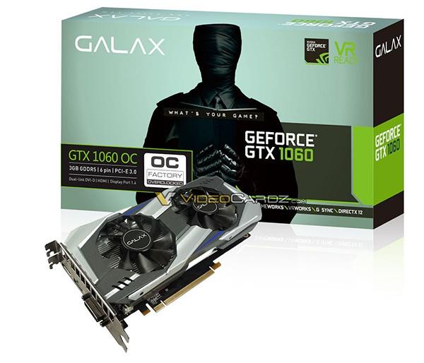 GALAX GTX 1060 OC 3GB