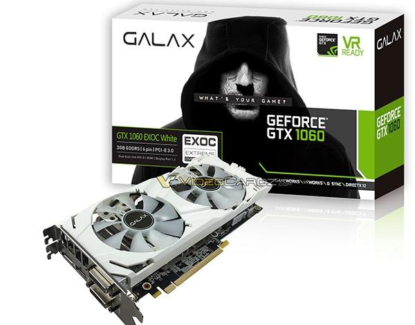 GALAX GTX 1060 EXOC White 3GB