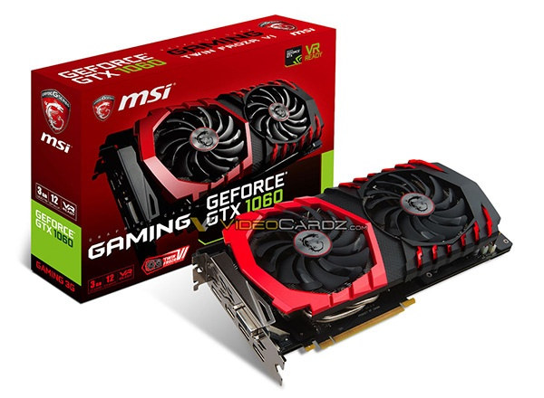 MSI GTX 1060 3GB GAMING