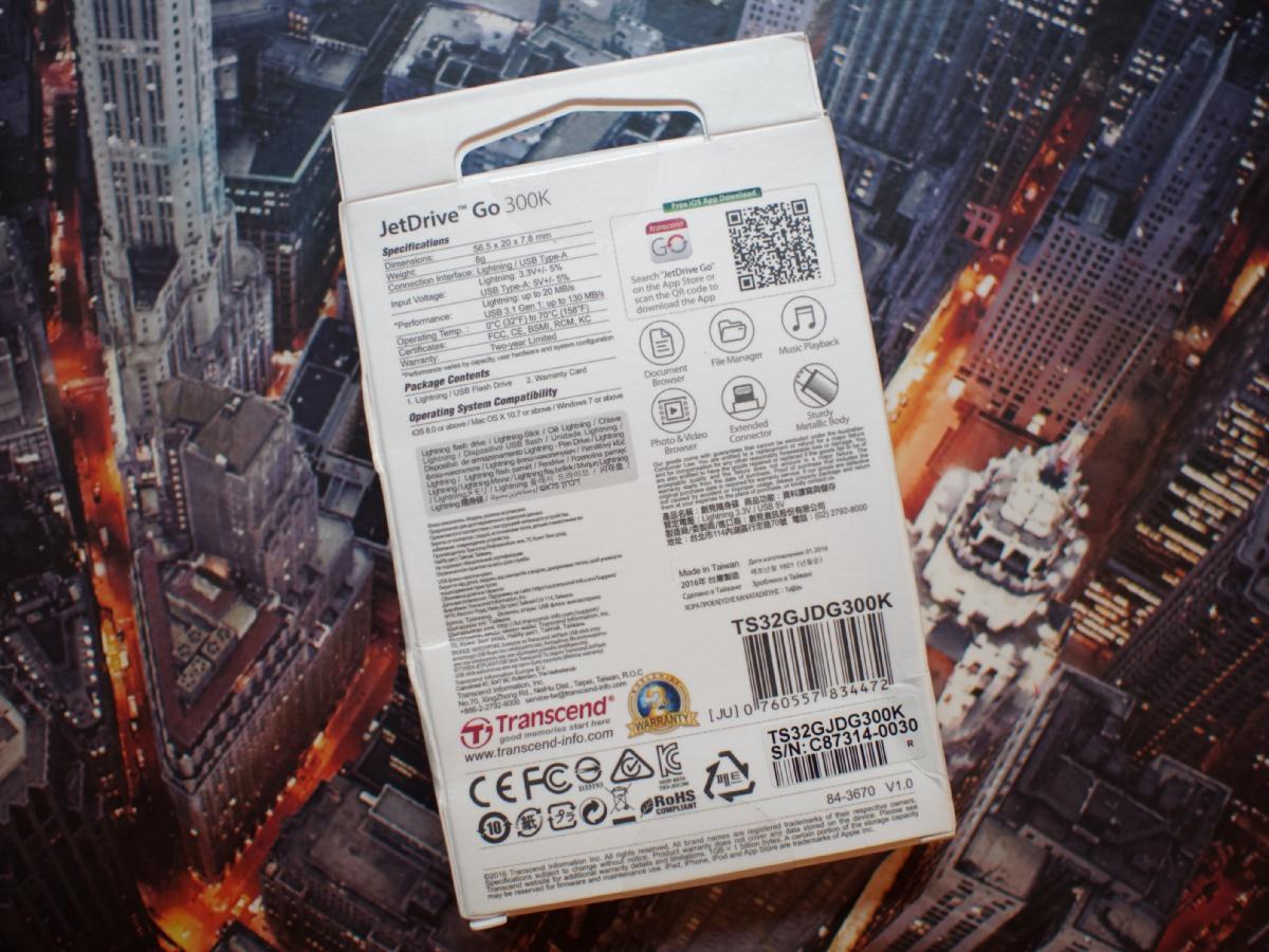 Обзор флешки USB-Lightning Transcend JetDrive Go 300K - 2