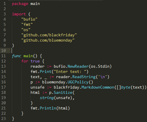 Безопасное использование языка Go в веб-программировании - 5