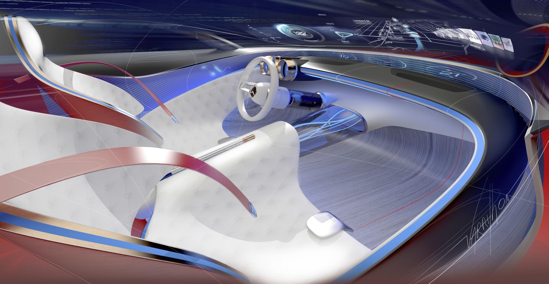 Проект шестиметрового электрокара Vision Mercedes-Maybach 6 - 7