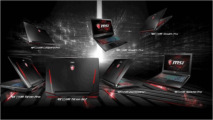 MSI представила линейку ноутбуков с видеокартами серии Nvidia GeForce GTX 10