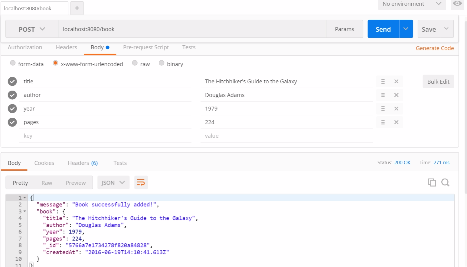 Тестирование RESTful API на NodeJS с Mocha и Chai - 5