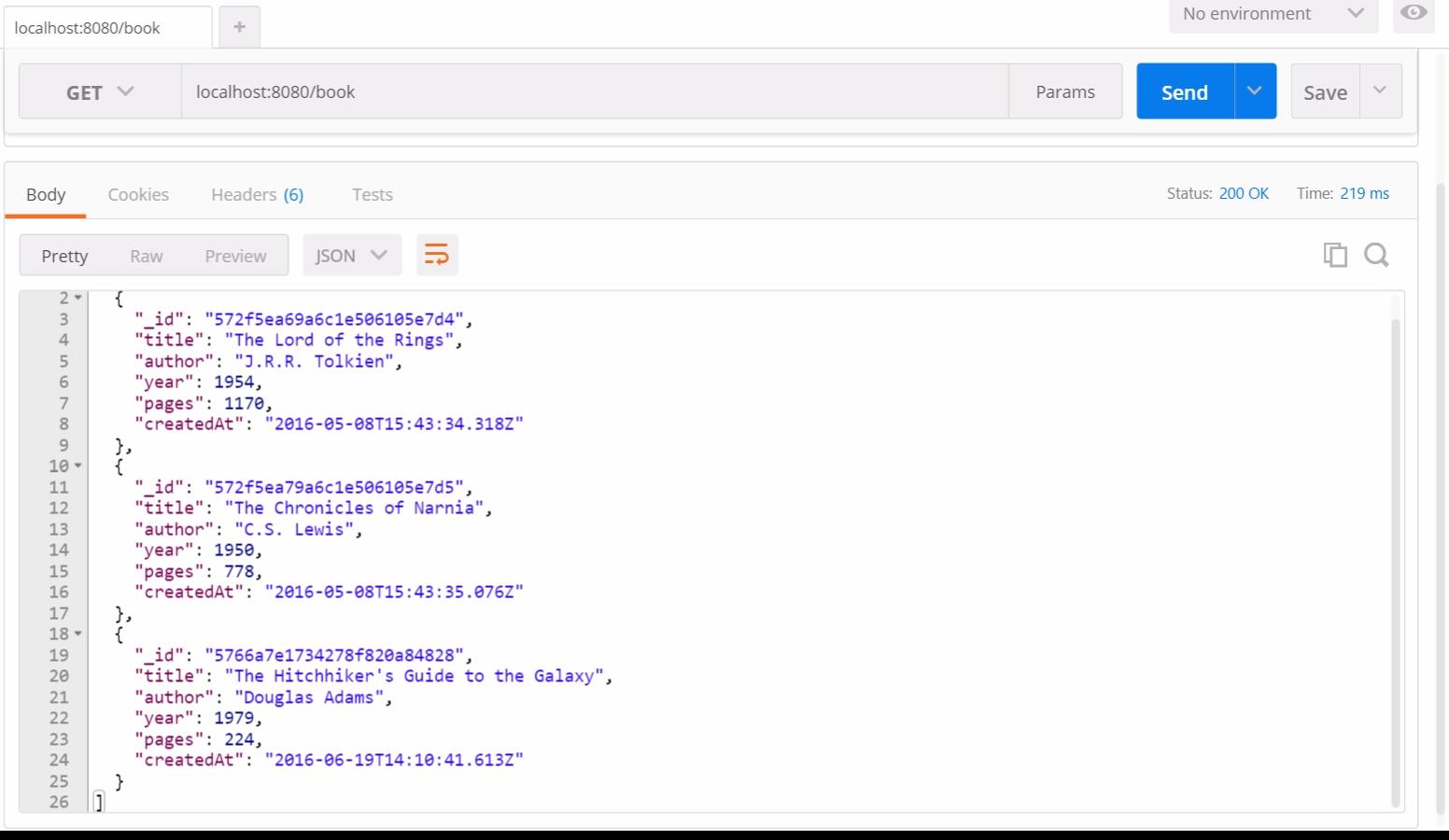 Тестирование RESTful API на NodeJS с Mocha и Chai - 6