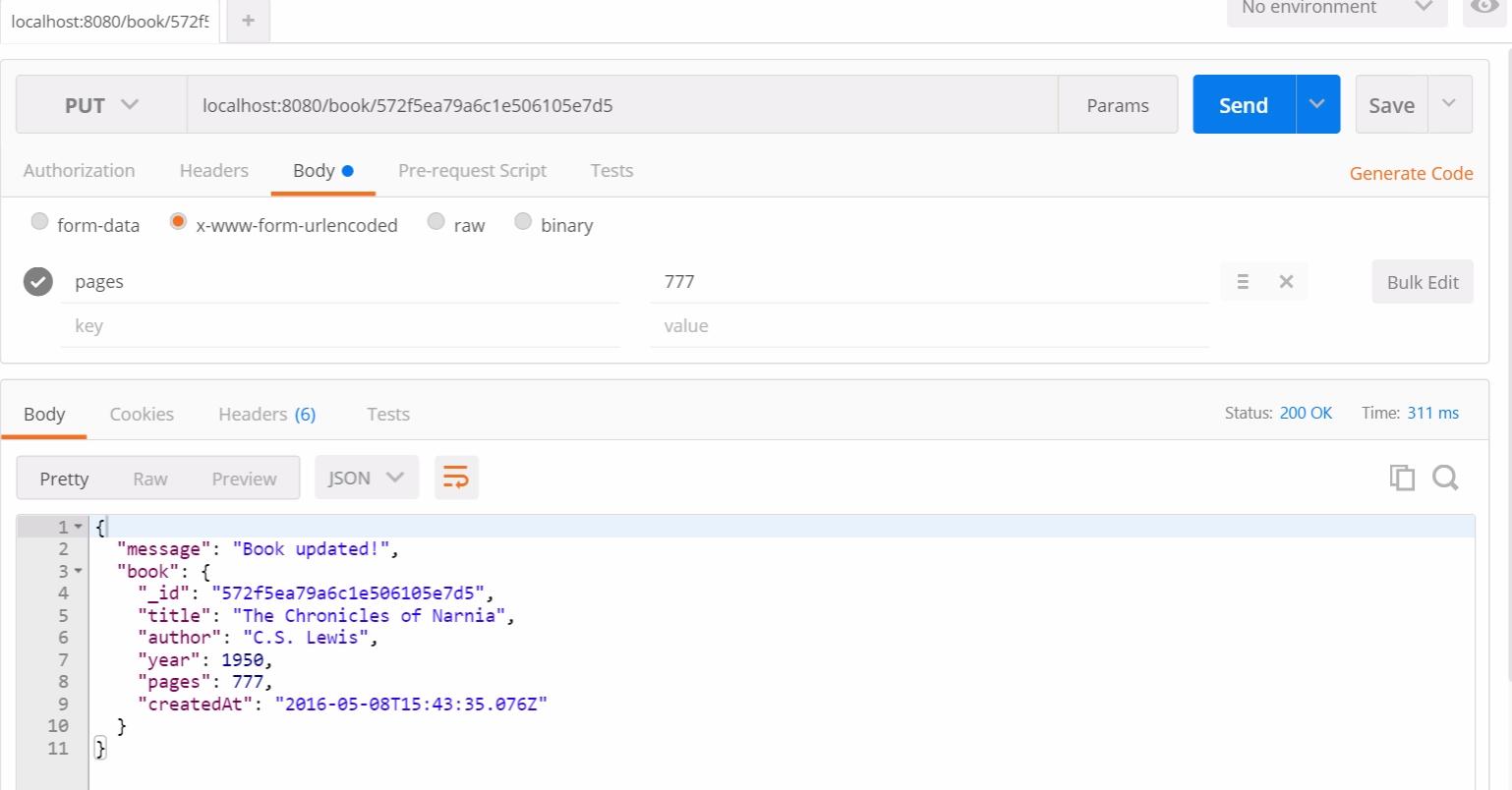 Тестирование RESTful API на NodeJS с Mocha и Chai - 7