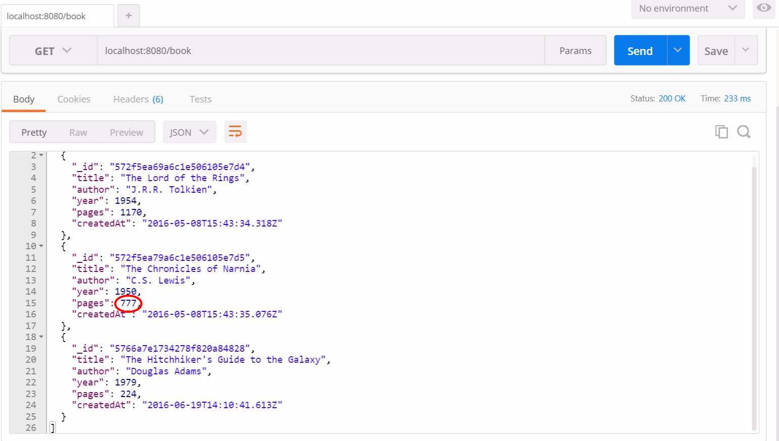 Тестирование RESTful API на NodeJS с Mocha и Chai - 8
