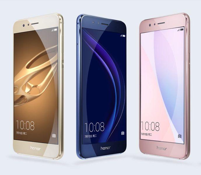 Представлен смартфон Huawei Honor 8, который поступит в продажу в России сегодня по цене 27 990 руб.
