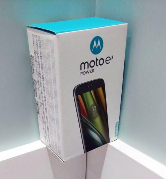 Moto E3 Power в коробке