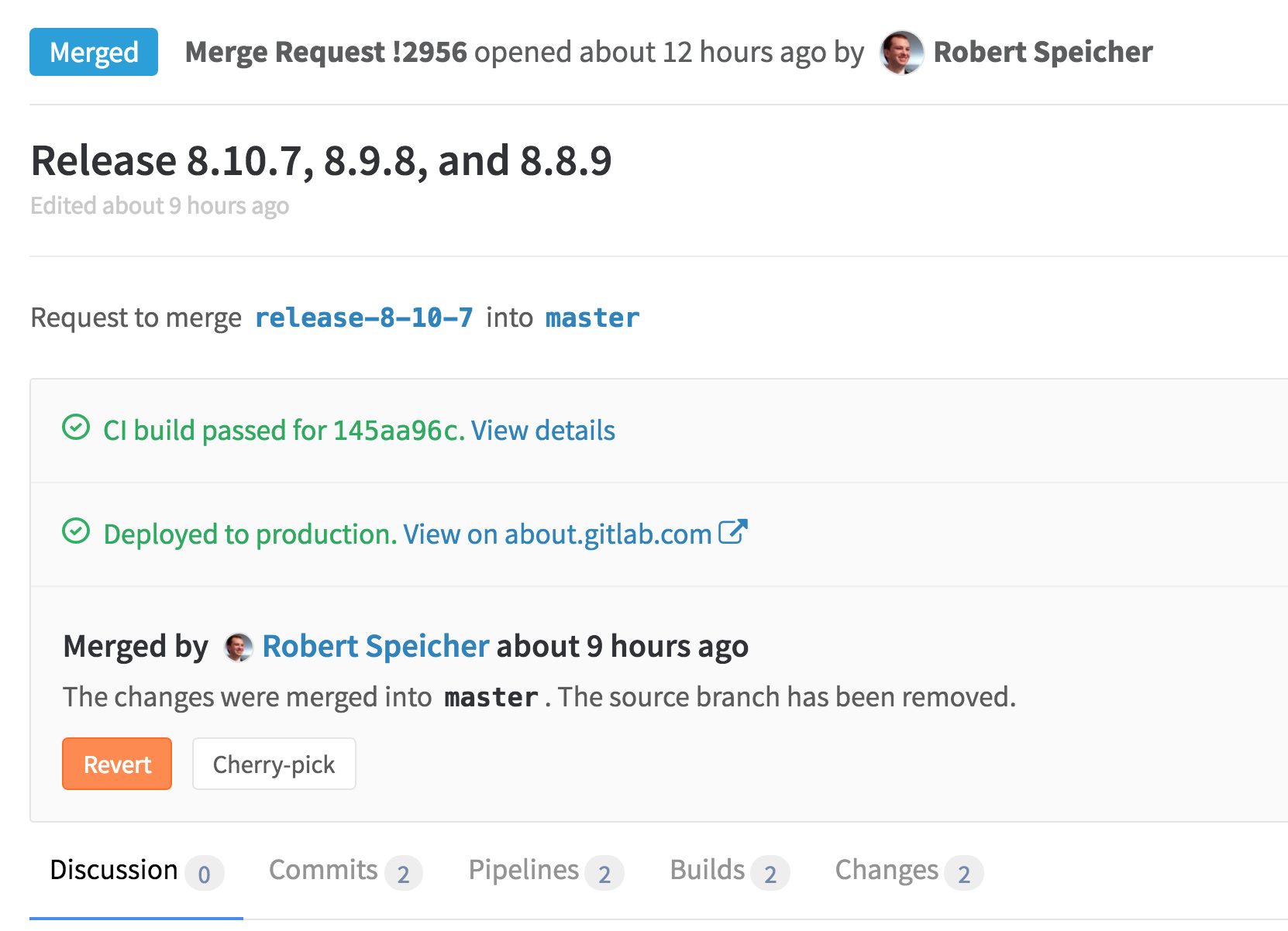 See deploy status in merge request in GitLab 8.11