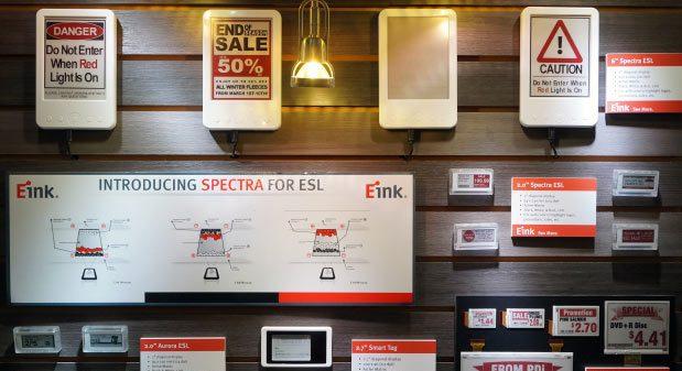 Поставки электронных ценников E Ink в этом году должны вырасти до 100 млн штук
