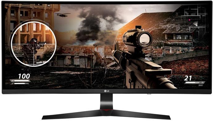 Монитор LG Curved UltraWide 34UC79G имеет вогнутый экран с соотношением сторон 21:9