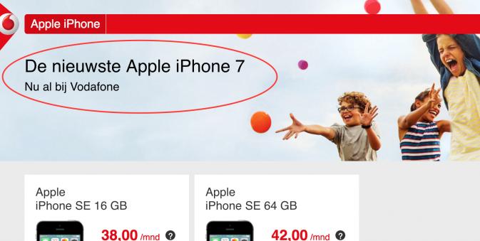 Vodafone подтвердил название iPhone 7, инсайдер опубликовал характеристики смартфона