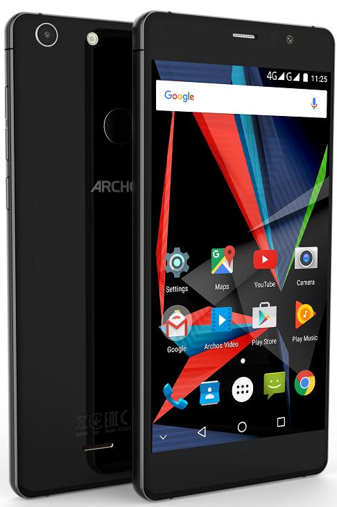 Смартфон Archos 55 Diamond Selfie работает под управлением ОС Android 6.0