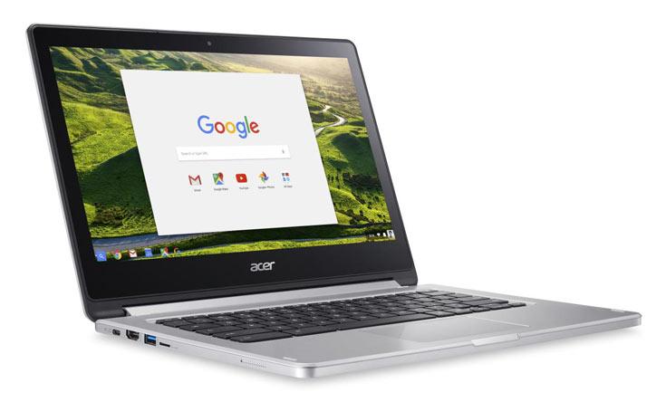 Трансформируемый хромбук Acer Chromebook R 13 работает автономно до 12 часов
