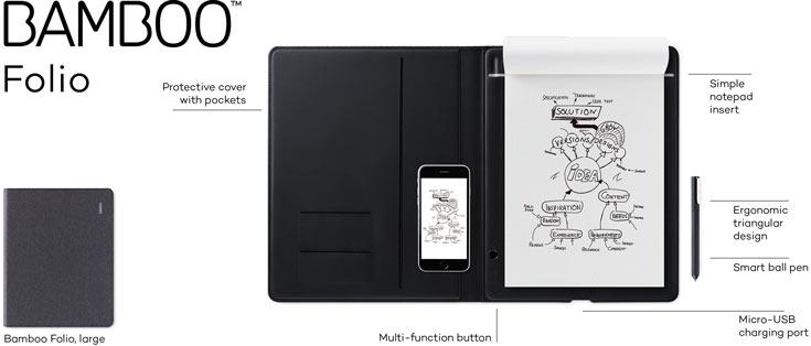 В Bamboo Folio и Bamboo Slate используется технология перьевого ввода Wacom EMR