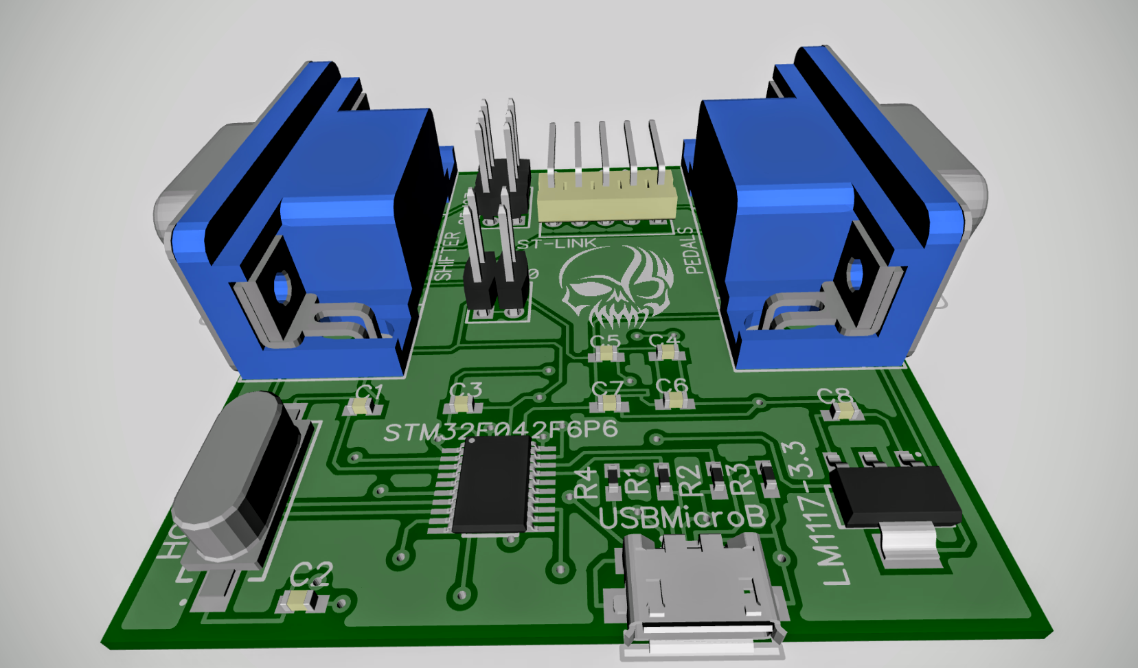Адаптер педалей и-или шифтера Logitech G25-G27 на STM32 - 3