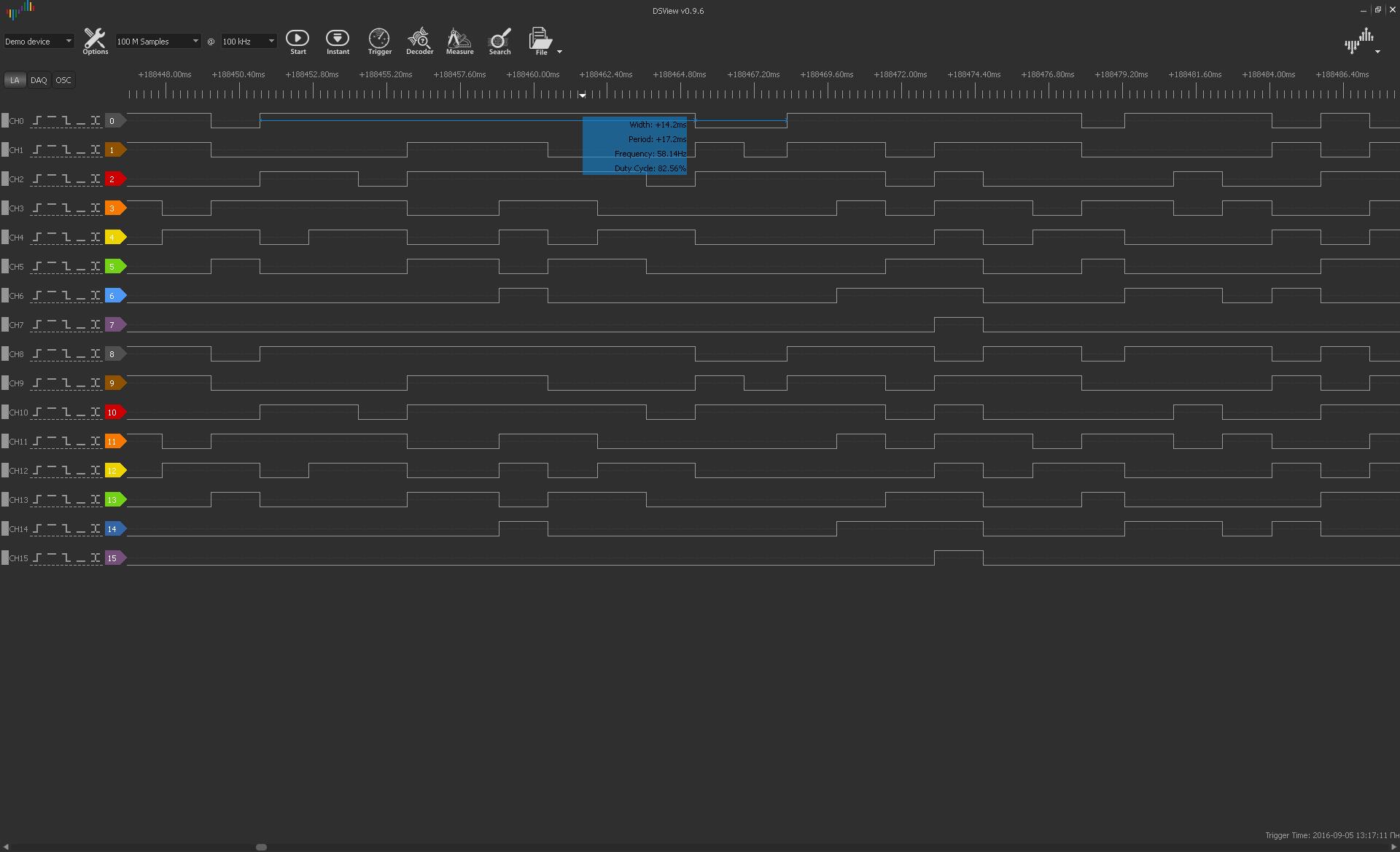Небольшой обзор логических анализаторов Saleae Logic Pro 8 и DreamSourceLab DSLogic Pro - 11