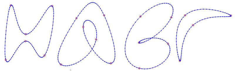 Интерполяция замкнутых кривых - 1