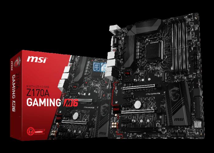 Системная плата MSI Z170A Gaming M6 выполнена в чёрном цвете