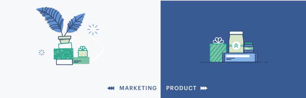 Product vs Marketing Illustration