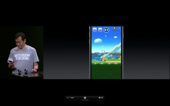 Apple начала презентацию с игры SuperMario Run