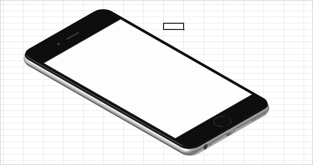 ExcelArt – изометрия «на халяву». Рисуем псевдообъемный телефон без 3D и Фотошопа - 23