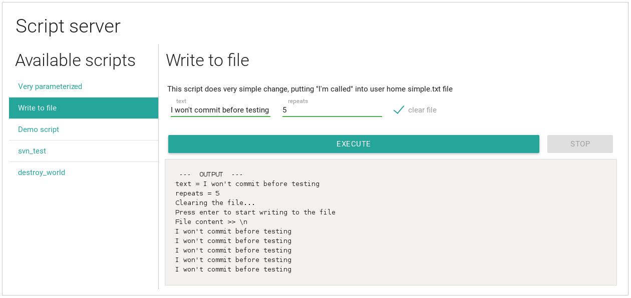 Script-server. WebUI для удалённого запуска ваших скриптов - 3