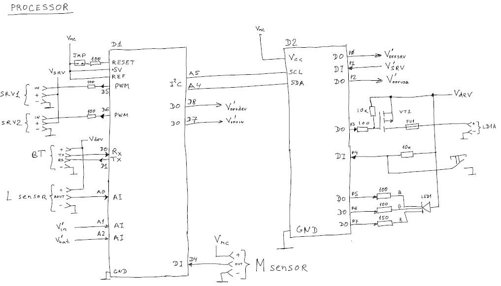 Как я сделал электронную плату для телеметрии датчиков и для управления периферией - 5