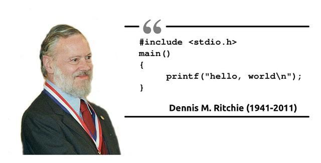 Персона: Деннис Ритчи — создатель языка С и ОС UNIX - 1