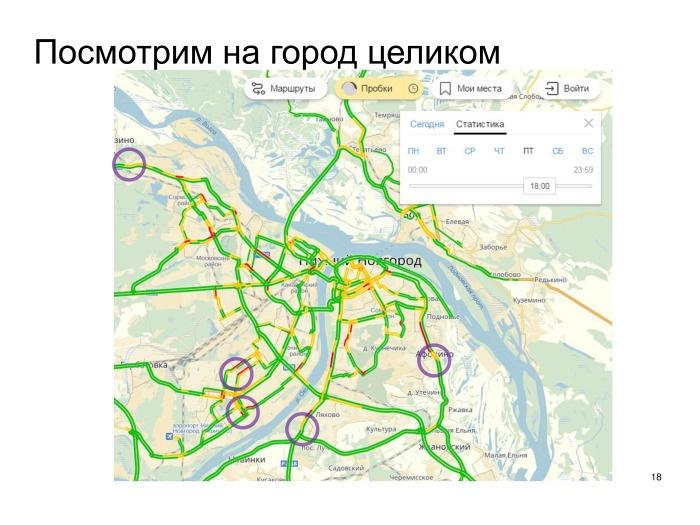 Выявление проблем дорожной сети с помощью Яндекс.Пробок. Лекция в Яндексе - 14