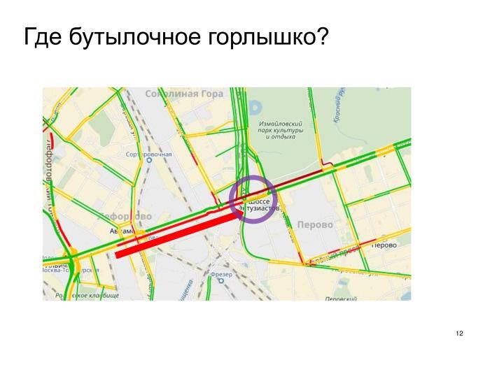 Выявление проблем дорожной сети с помощью Яндекс.Пробок. Лекция в Яндексе - 9