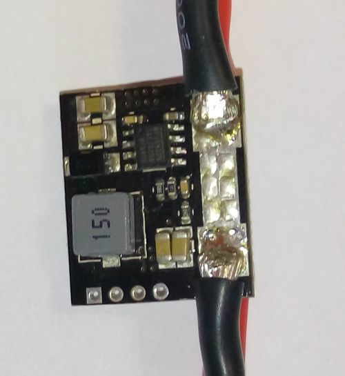 Модуль питания контроллера коптера с встроенными датчиками напряжения и тока - 7