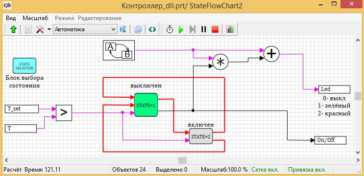 Конечные автоматы в среде динамического моделирования SimInTech. Часть 3. Переходим к коду Си - 16