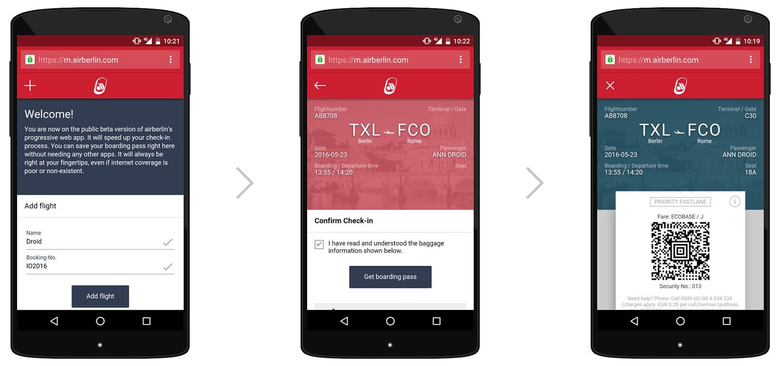 Air Berlin: реализация Progressive Web App - 2