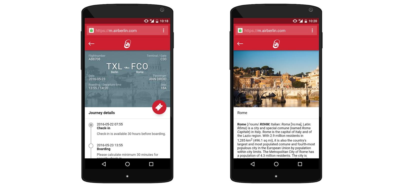 Air Berlin: реализация Progressive Web App - 3