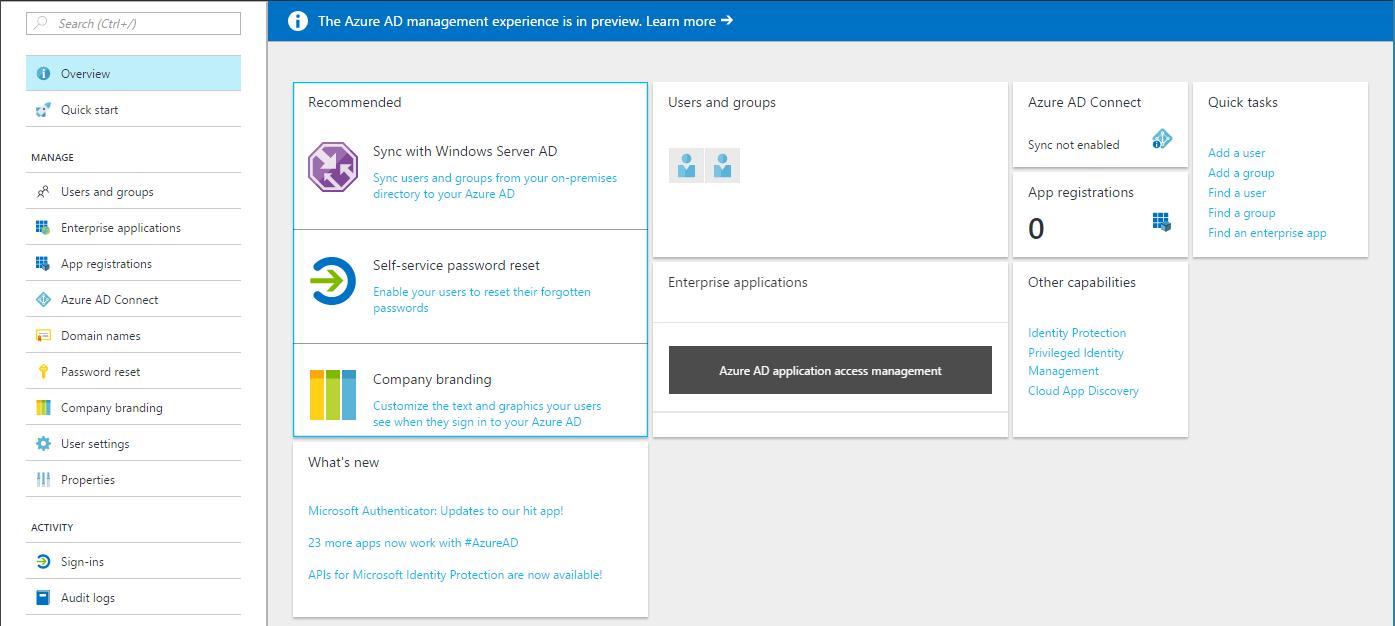 Azure Active Directory теперь и в новом ARM портале - 2