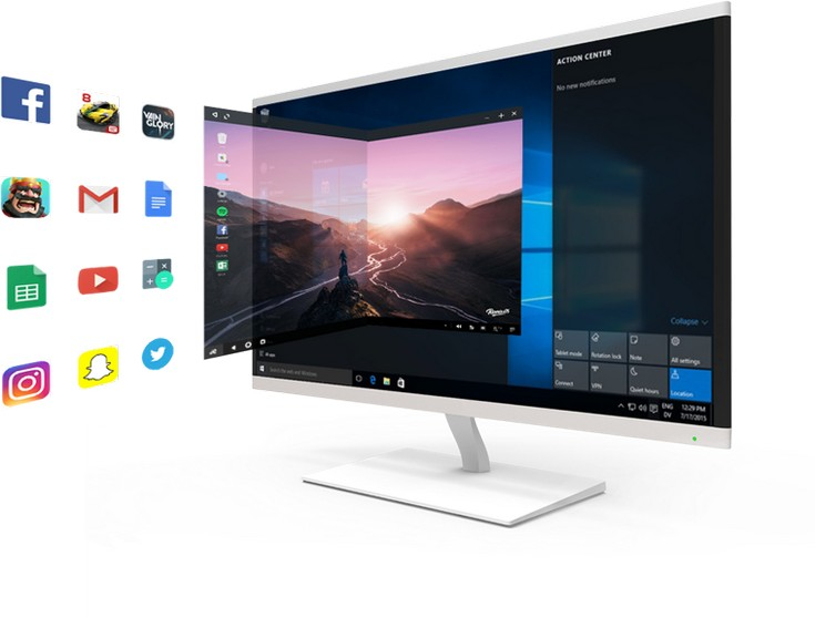 Эмулятор Remix OS Player поддерживает Google Play Store
