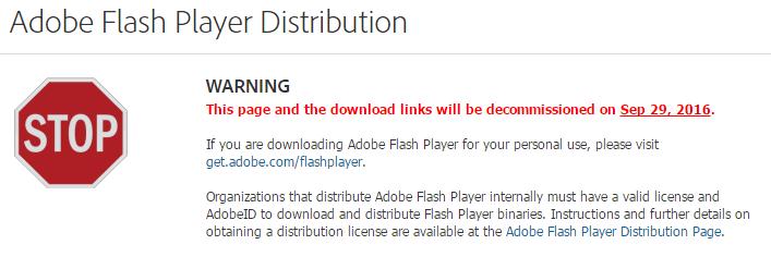 В конце месяца Adobe уберет ссылки на скачивание Flash со своего сайта - 2