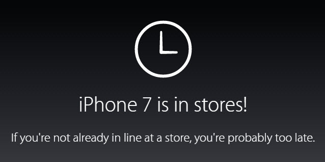 Все смартфоны iPhone 7 Plus, а также iPhone 7 в цвете Jet Black распроданы перед сегодняшним стартом