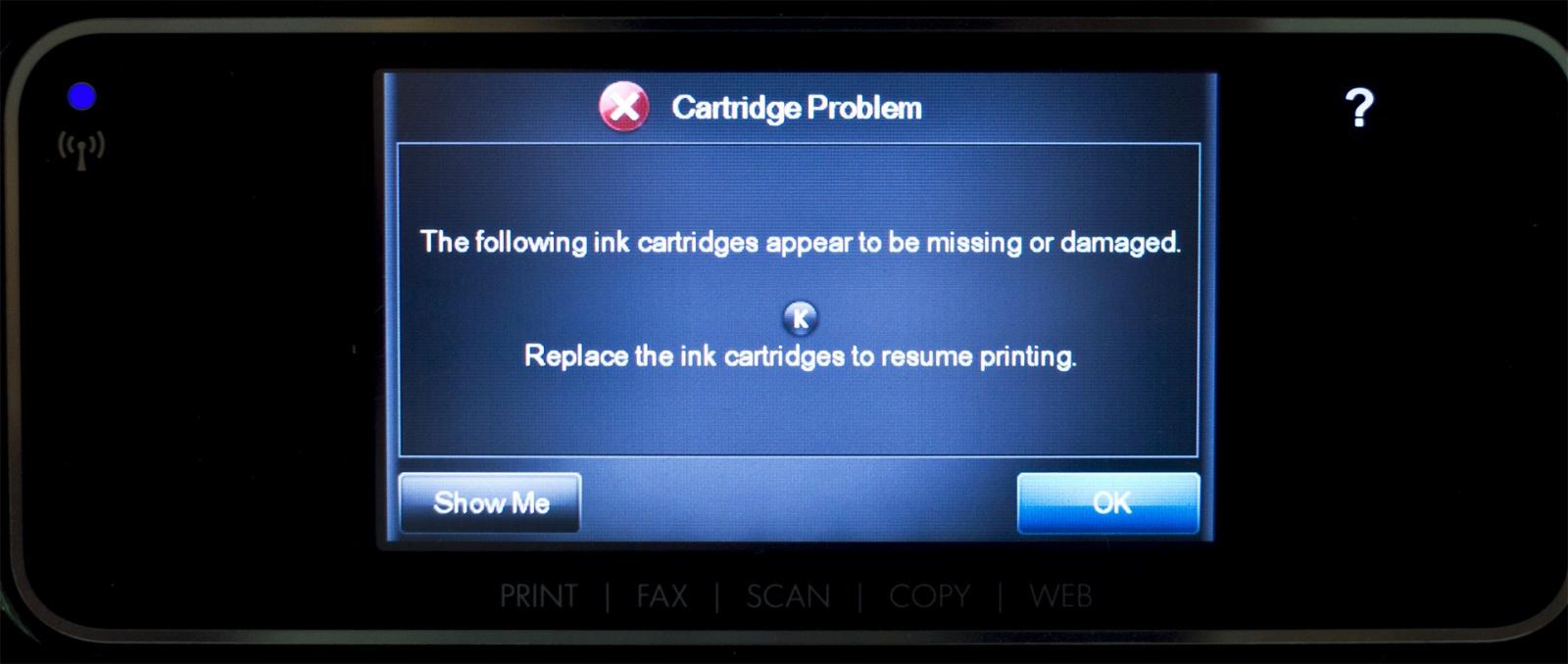 Принтеры HP с «нелицензионными» чернилами запрограммированы на ошибку после 12 сентября - 1