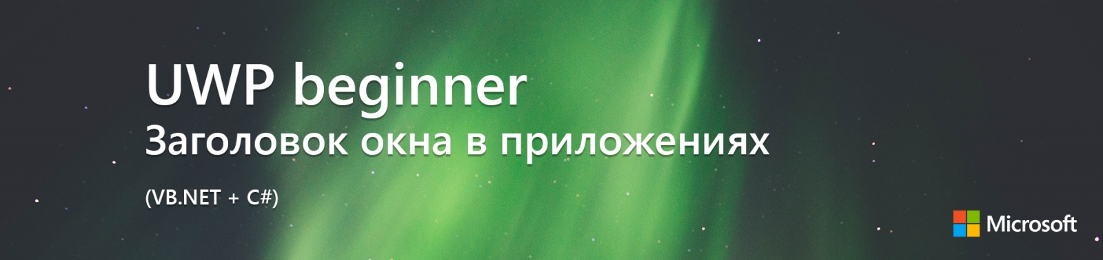 UWP beginner: Заголовок окна в приложениях (VB.NET + C#) - 1