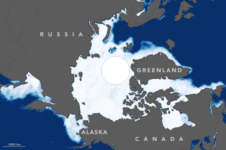 Размеры ледового покрова в Северном Ледовитом океане побили рекордный минимум 2007 года - 2