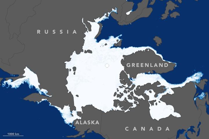 Размеры ледового покрова в Северном Ледовитом океане побили рекордный минимум 2007 года - 3