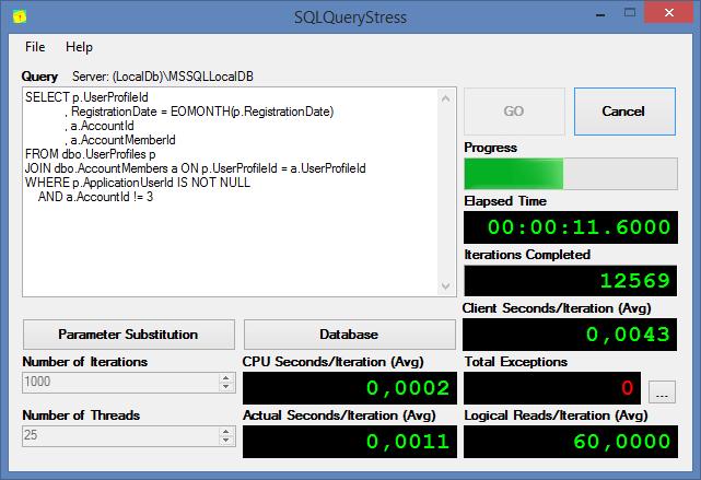 Тестирование производительности баз данных при помощи tSQLt и SQLQueryStress - 1