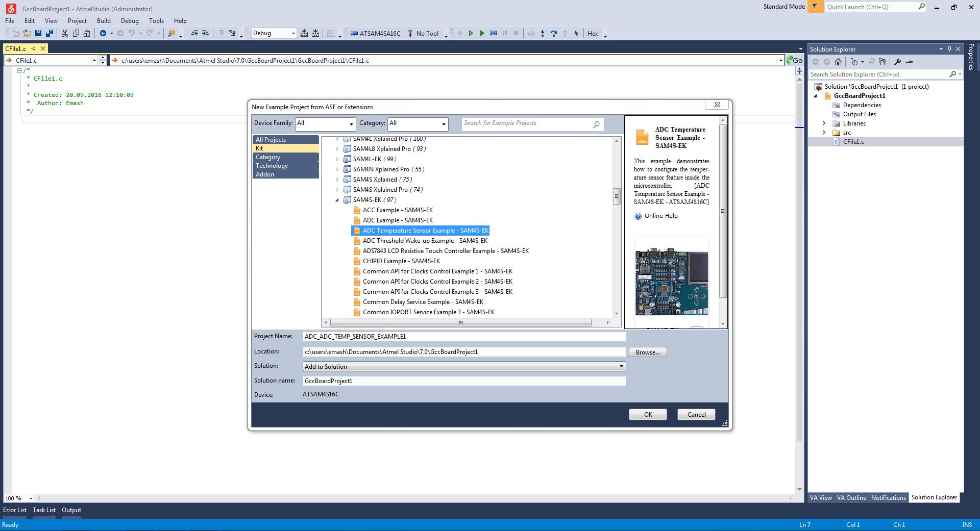 Atmel ARM в DIY?! «Hello world» в Atmel Studio для Cortex M4 - 5