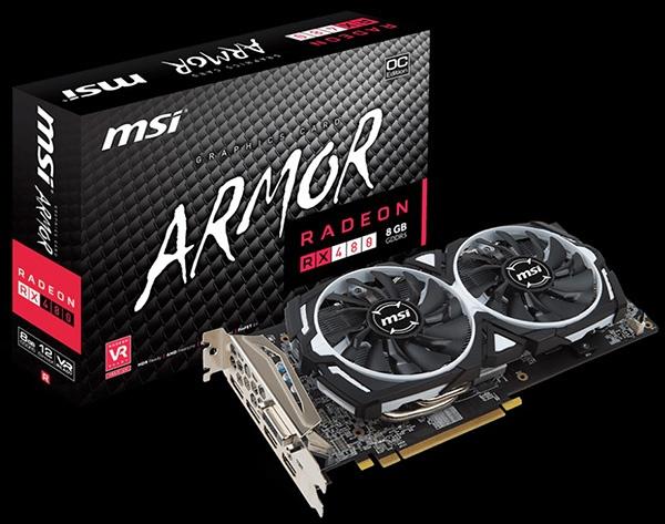 MSI Radeon RX 480 Armor 8G OC