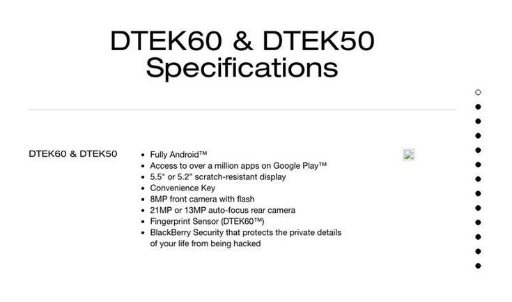 Смартфон BlackBerry DTEK60 будет новым флагманом компании