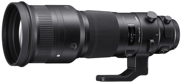 Объектив Sigma 500mm F4 DG OS HSM Sport выпускается в вариантах для камер Canon, Nikon и Sigma