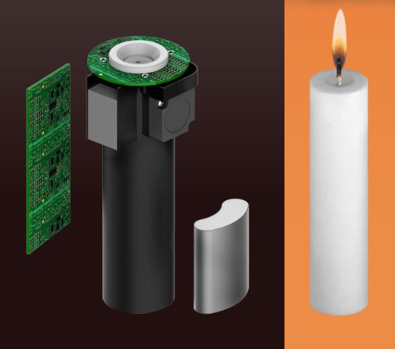 Для управления умной свечой LuDela понадобится смартфон или планшет